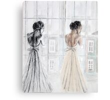 Bride Two Ways Canvas Print