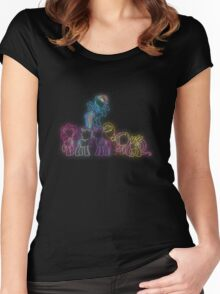 Pony Friends Neon Glow Nights Women's Fitted Scoop T-Shirt