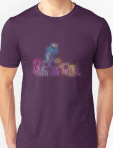 Pony Friends Neon Glow Nights Unisex T-Shirt
