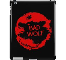 Bad Wolf - I Create Myself - Grunge Artwork iPad Case/Skin