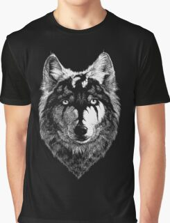 Wolf Head Draw with the Dragon  Graphic T-Shirt