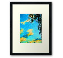 Yellow Clouds above the Treetops 2 Framed Print