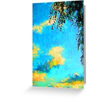 Yellow Clouds above the Treetops 2 Greeting Card
