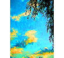 Yellow Clouds above the Treetops 2 Photographic Print