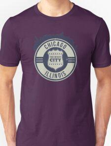 Chicago The Windy City Skyline Stamp Unisex T-Shirt