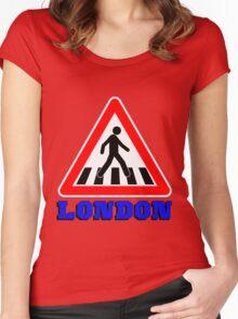 LONDON-ZEBRA CROSSING Women's Fitted Scoop T-Shirt