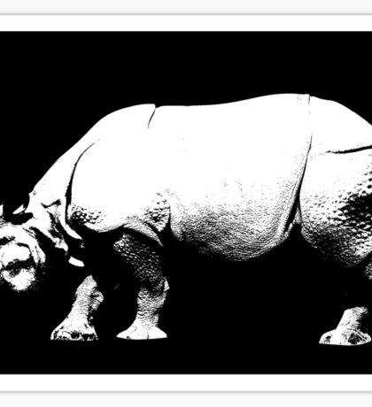 Rhino Crossing Sticker