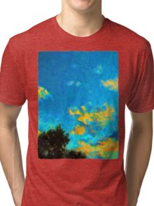 Yellow Clouds above the Treetops 1 Tri-blend T-Shirt