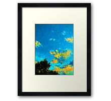Yellow Clouds above the Treetops 1 Framed Print