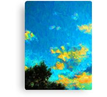 Yellow Clouds above the Treetops 1 Canvas Print