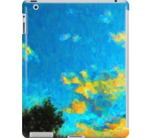 Yellow Clouds above the Treetops 1 iPad Case/Skin