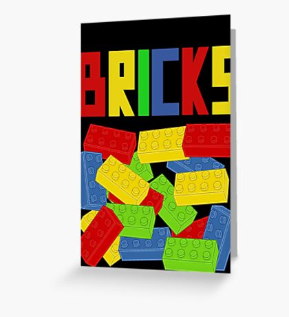 Colored Bricks [Large] by Customize My Minifig Greeting Card
