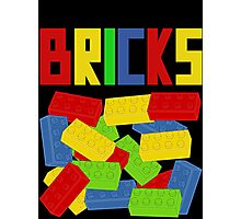 Colored Bricks [Large] by Customize My Minifig Photographic Print