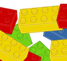 Colored Bricks [Large] by Customize My Minifig Sticker