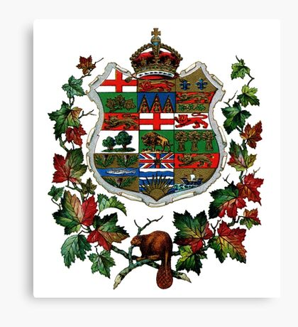 1905 Canadian Coat of Arms Canvas Print