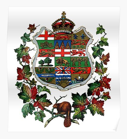 1905 Canadian Coat of Arms Poster