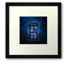 Space And Time traveller Wolf Framed Print