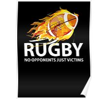 Rugby. No Opponents Just Victims Poster
