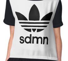 SDMN Trefoil Print (White) Chiffon Top