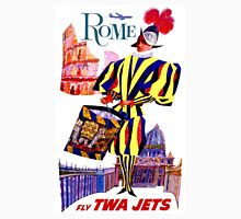 """""""TWA AIRLINES"""" Fly to Rome Advertising Print Unisex T-Shirt"""