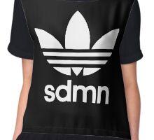 SDMN Trefoil Print (Black) Chiffon Top