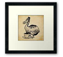 Teatime for Sir Dodo Framed Print