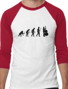Double Bass Evolution Silhouette Men's Baseball ¾ T-Shirt