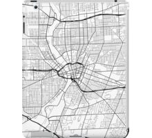 Rochester Map, USA - Black and White iPad Case/Skin