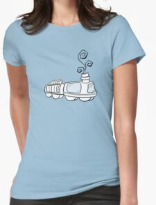 Toon Train Womens Fitted T-Shirt