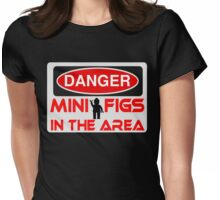 Danger Minifigs in the Area Sign Womens Fitted T-Shirt