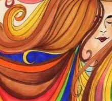 Rainbow Hair Sticker