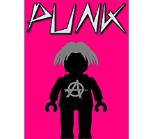 Punk Guitarist Minifig, Customize My Minifig Photographic Print