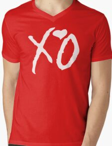 XO Heart Mens V-Neck T-Shirt