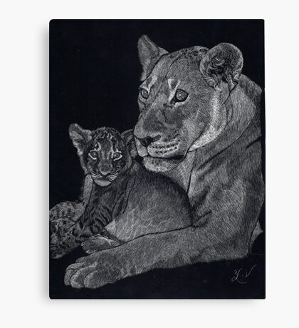 Mother's arms Canvas Print