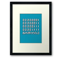 The Flight of the Conchords - Binary Solo - Robots Framed Print