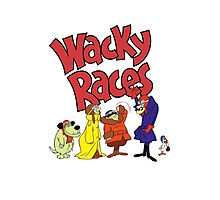 Muttley & Friends Unite Wacky Races Photographic Print