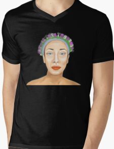 Flower Crown Mens V-Neck T-Shirt