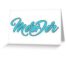 "Grey's Anatomy ""MerDer"" Ship Name Merch! - White Greeting Card"