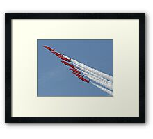 Diamond Roll - The Red Arrows - Farnborough Framed Print