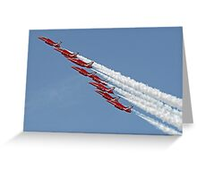 Diamond Roll - The Red Arrows - Farnborough Greeting Card