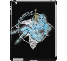 Jil Frontiers pin-up - distressed (for dark background) iPad Case/Skin
