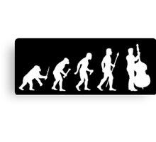 Double Bass Evolution Of Man Canvas Print