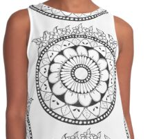 Flowers crown mandala Contrast Tank