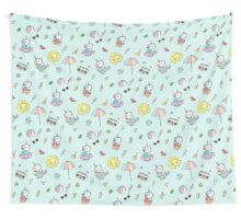 Summer Unicorn Pool Party Wall Tapestry