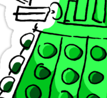 Green Dalek Sticker