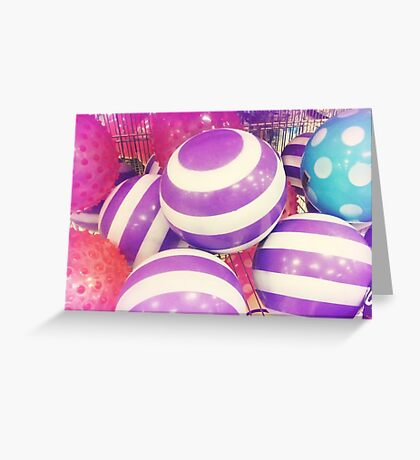*Child's delight - Big Bouncy Ball* Greeting Card