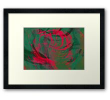 Abstract colorful watercolor illustration with paint strokes and swirls. Framed Print