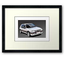 Poster artwork - Peugeot 205 GTI Framed Print
