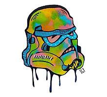 Neon Trooper Photographic Print