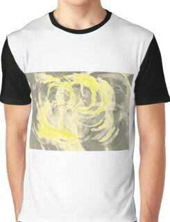 Abstract colorful watercolor illustration with paint strokes and swirls. Graphic T-Shirt